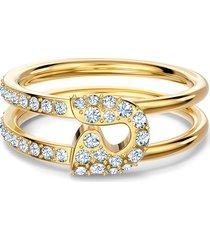 anel feminino so cool pin em metal - ouro