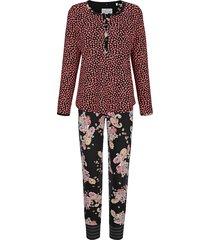 pyjama ringella bloomy zwart::lichtrood::groen