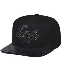 mitchell & ness los angeles lakers triple black lux snapback cap