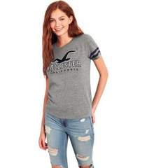 camiseta hollister gráfica feminina