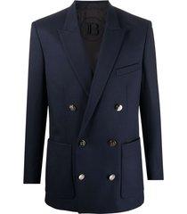 coll fit wool twill blazer