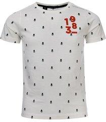 common heroes wit t-shirt all-over kwal printje voor jongens in de kleur