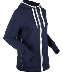 felpa con zip e cappuccio (blu) - bpc bonprix collection