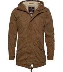 new military parka parka jacka brun superdry
