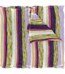 m missoni striped knit scarf - purple