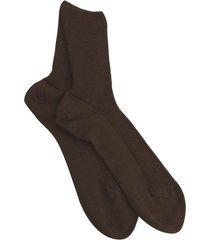 pak van 3 paar katoenen sokken zonder elastiek, schoko 35/36