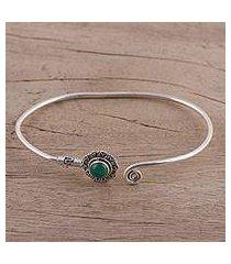 onyx cuff bracelet, 'green burst' (india)