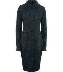 abito in maglia a maniche lunghe (nero) - bpc bonprix collection