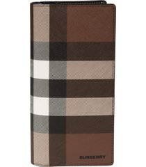burberry check print long wallet