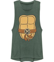 fifth sun teenage mutant ninja turtles women's michelangelo body festival muscle tank top