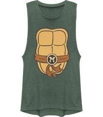 fifth sun teenage mutant ninja turtles women's michelangelo body festival muscle tank top
