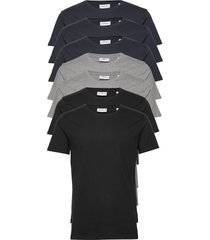 basic o-neck tee s/s 7 pack t-shirts short-sleeved zwart lindbergh