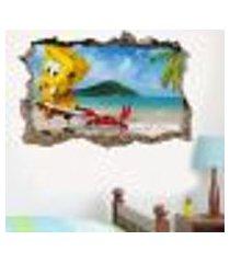 adesivo buraco na parede bob esponja - es 93x144cm