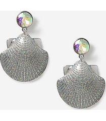 *christmas glitter shell earrings - multi pastel