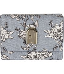 furla 1927 s floral print french wallet