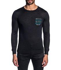 jared lang men's lightweight knit crewneck sweater - cream - size xxl