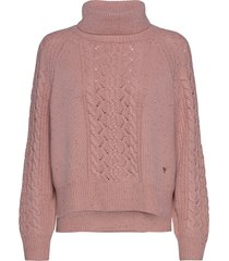 marylin knit turtleneck coltrui roze mos mosh