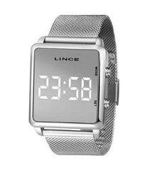 relógio lince unissex led mdm4619l-bxsx