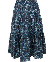 kenzo elasticated midi skirt