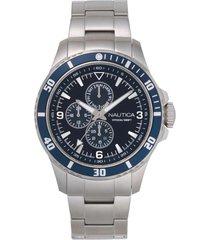 reloj clásico plateado nautica