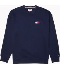 tommy hilfiger men's adaptive badge crewneck sweatshirt black iris - xxl