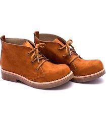 botineta marrón valentia calzados maria chavito gamuza