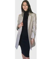abrigo missguided gris - calce regular