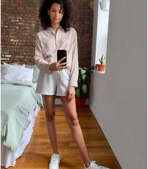 lou & grey signaturesoft plush drawstring shorts
