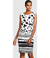 jurk alba moda wit::zwart