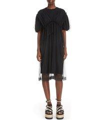 women's simone rocha tulle layer t-shirt dress