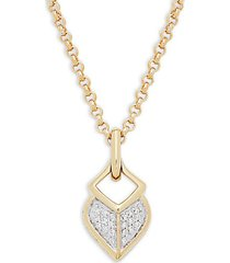 18k yellow gold & diamond pendant necklace