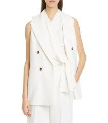 women's lafayette 148 new york vaughn vest, size 16 (similar to 14w) - white