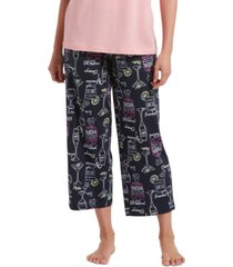 hue drink them up capri pajama pant