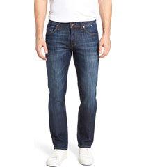 men's big & tall mavi jeans zach straight leg jeans, size 30 x 36 - blue