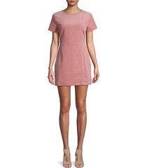 short-sleeve corduroy mini dress