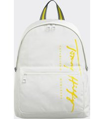 tommy hilfiger women's recycled logo backpack bright white -
