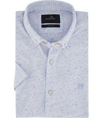 korte mouwen overhemd vanguard blauw gemeleerd