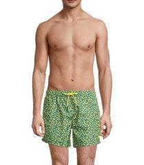 boss hugo boss men's rockfish swim trunks - green - size xxl