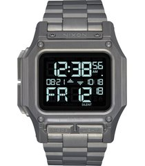 men's nixon regulus digital bracelet watch, 46mm