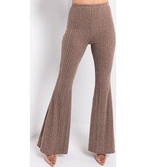 akira comfy tingz casual knit flare pants
