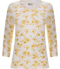 camiseta flores unicolor color amarillo, talla l