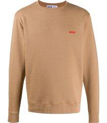affix logo embroidered sweatshirt - neutrals