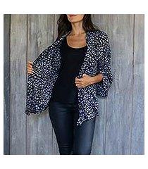 rayon jacket, 'borneo slate' (indonesia)