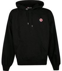 gcds eat it all logo print hooded sweatshirt