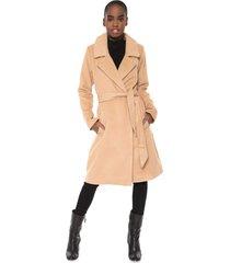 casaco sobretudo colcci amarração bege