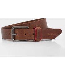 cinturón unifaz de cuero liso