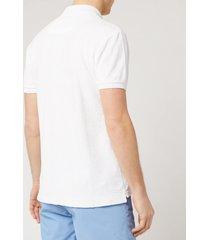 orlebar brown men's jarrett towelling polo shirt - white - l
