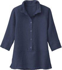 lichte linnen blouse, indigo 36
