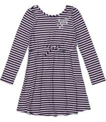 epic threads toddler girls long sleeve tie waist striped dress
