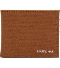 matt & nat rubben wallet, chili matte nickel